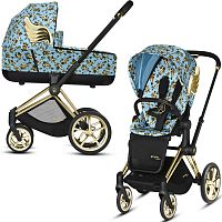 Коляска 2 в 1 CYBEX PRIAM Jeremy Scott Cherubs Blue Cherubs Blue