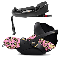 Автокресло CYBEX Cloud Q Jeremy Scott Cherubs Pink + База isofix Q Base-fix Cherubs Pink