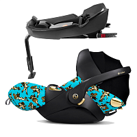 Автокресло CYBEX Cloud Q Jeremy Scott Cherubs Blue+ База isofix Q Base-fix Cherubs Blue