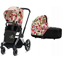 Коляска 2 в 1 CYBEX PRIAM III Spring Blossom Light